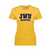 Ladies Gold T Shirt-JWU Rowing