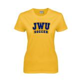 Ladies Gold T Shirt-JWU Soccer