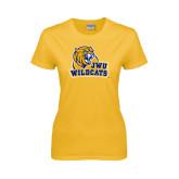 Ladies Gold T Shirt-JWU Wildcats