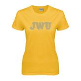 Ladies Gold T Shirt-Rhinestone JWU