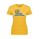 Ladies Gold T Shirt-Equestrian