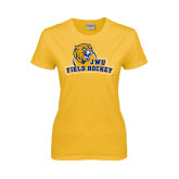 Ladies Gold T Shirt-Field Hockey