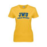 Ladies Gold T Shirt-JWU Field Hockey