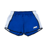 Ladies Royal/White Team Short-JWU