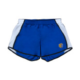 Ladies Royal/White Team Short-Wildcat Head