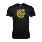 Next Level SoftStyle Black T Shirt-Wildcat Head