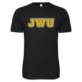 Next Level SoftStyle Black T Shirt-JWU