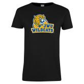 Ladies Black T Shirt-JWU Wildcats