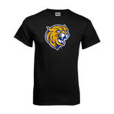Black T Shirt-Wildcat Head Distressed