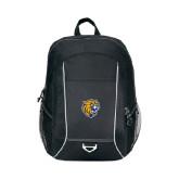 Atlas Black Computer Backpack-Wildcat Head