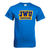 Royal T Shirt-JWU Soccer