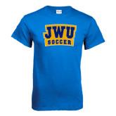 Royal T Shirt-JWU Soccer