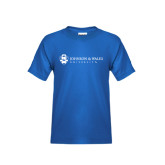 Youth Royal T Shirt-University Mark