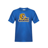 Youth Royal T Shirt-JWU Wildcats