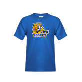 Youth Royal T Shirt-Hockey