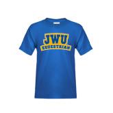 Youth Royal T Shirt-JWU Equestrian