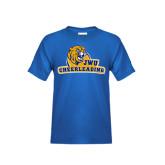 Youth Royal T Shirt-Cheerleading
