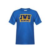Youth Royal T Shirt-JWU Rowing