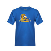 Youth Royal T Shirt-Lacrosse