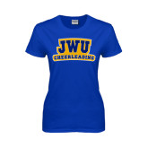 Ladies Royal T Shirt-JWU Cheerleading