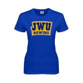 Ladies Royal T Shirt-JWU Rowing