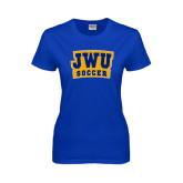 Ladies Royal T Shirt-JWU Soccer