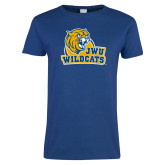 Ladies Royal T Shirt-JWU Wildcats