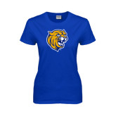 Ladies Royal T Shirt-Wildcat Head Distressed
