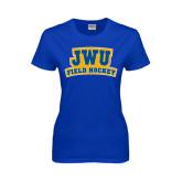Ladies Royal T Shirt-JWU Field Hockey