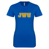 Next Level Ladies SoftStyle Junior Fitted Royal Tee-JWU