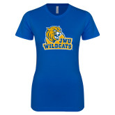 Next Level Ladies SoftStyle Junior Fitted Royal Tee-JWU Wildcats