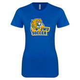 Next Level Ladies SoftStyle Junior Fitted Royal Tee-Soccer