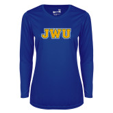 Ladies Syntrel Performance Royal Longsleeve Shirt-JWU