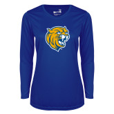 Ladies Syntrel Performance Royal Longsleeve Shirt-Wildcat Head