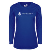 Ladies Syntrel Performance Royal Longsleeve Shirt-University Mark