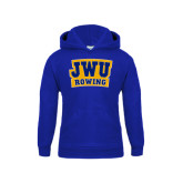 Youth Royal Fleece Hoodie-JWU Rowing