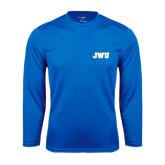 Syntrel Performance Royal Longsleeve Shirt-JWU