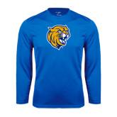 Syntrel Performance Royal Longsleeve Shirt-Wildcat Head