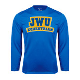 Syntrel Performance Royal Longsleeve Shirt-JWU Equestrian