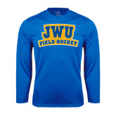 Syntrel Performance Royal Longsleeve Shirt-JWU Field Hockey