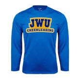 Syntrel Performance Royal Longsleeve Shirt-JWU Cheerleading