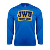 Syntrel Performance Royal Longsleeve Shirt-JWU Rowing