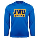Syntrel Performance Royal Longsleeve Shirt-JWU Soccer