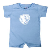 Light Blue Infant Romper-Wildcat Head