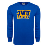 Royal Long Sleeve T Shirt-JWU Sailing
