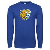 Royal Long Sleeve T Shirt-Wildcat Head