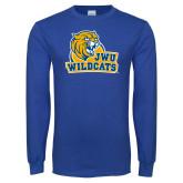 Royal Long Sleeve T Shirt-JWU Wildcats