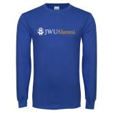 Royal Long Sleeve T Shirt-JWU Alumni