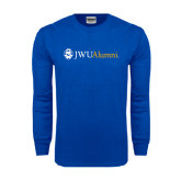 Royal Long Sleeve T Shirt-JWU Alumni