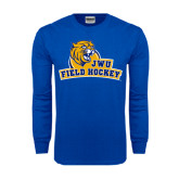 Royal Long Sleeve T Shirt-Field Hockey